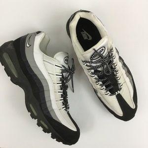 Nike Air Max 95 White Grey Black Sneakers Men's 15